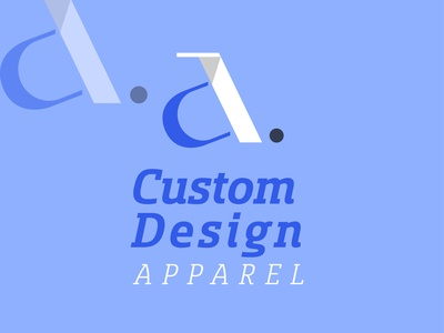 Custom Design Apparel (CDA) Logo Design - Clothing Logo Design flat design logo typography ux ui flat app minimal logo design branding