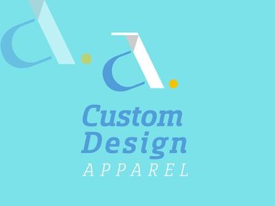 Custom Design Apparel (CDA) Logo Design - Clothing Logo Design bold logo illustration flat design app logo icon flat minimal logo design branding