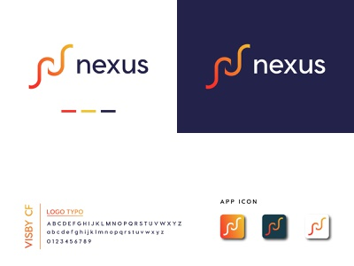 NEXUS LOGO DESIGN business ui dailylogochallenge corporate identity photoshop typography vector illustrator nexus app icon abstract logo unique minimal flat graphic design creative design branding logo