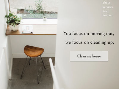Design 12: Moving out cleaning feedback feedbackplease design webdesign dailydesignchallenge 30daysofwebdesign 30daychallenge