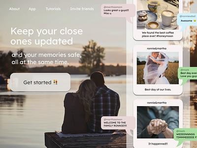 Design 16: Digital Assistant for Couples ui uidesign webdesign dailydesignchallenge 30daysofwebdesign 30daychallenge