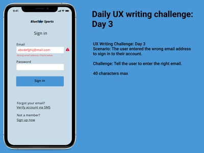 UX Writing Day 3 uxdesign uxwriting uxchallenge ux app