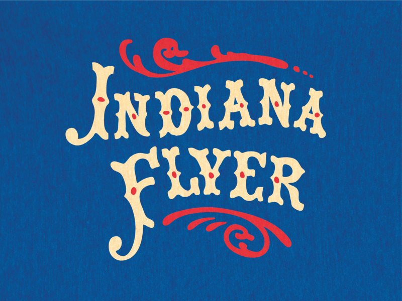 Stranger Things - Indiana Flyer apparel indianapolis shirt ipad pro apple apple pencil brand typography typeface lettering hand lettering logo midwest indiana monsters sci fi things stranger stranger things