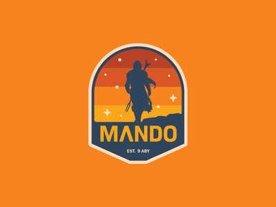Mando mandalorian branding logo sticker patch apple pencil procreate ipad pro illustration badge logo icon badge star wars