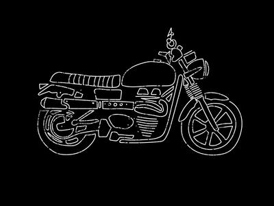 Bonnie custom sketch doodle bonneville motorcycle