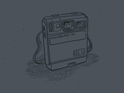 Camera Doodle hand drawn retro sketch doodle camera