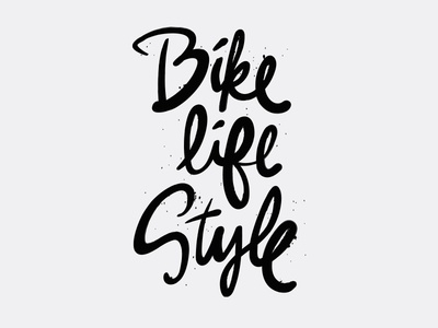 I like bikes hand lettering messy ink lifestyle bike bicycles