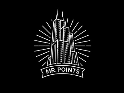 Mr. Points line art sears tower downtown city skyscraper building