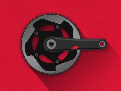 Drivetrain crankset bike bicycle gear drivetrain red sram