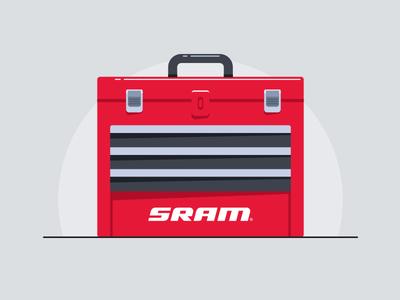 Srambox bikes garage tools toolbox