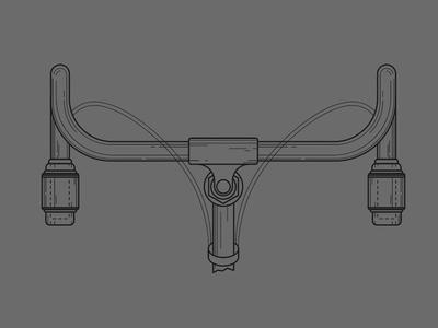 Bar Sketch sketch drawing industrial handlebars bicycle bike vintage engineering