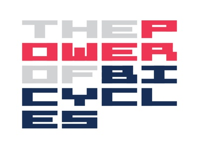 Pedal Power power letters futuristic space digital type