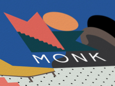 MONK Rome music collage design illustration