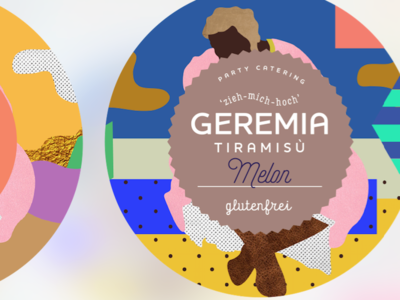 Geremia Tiramisu dessert collage design illustration