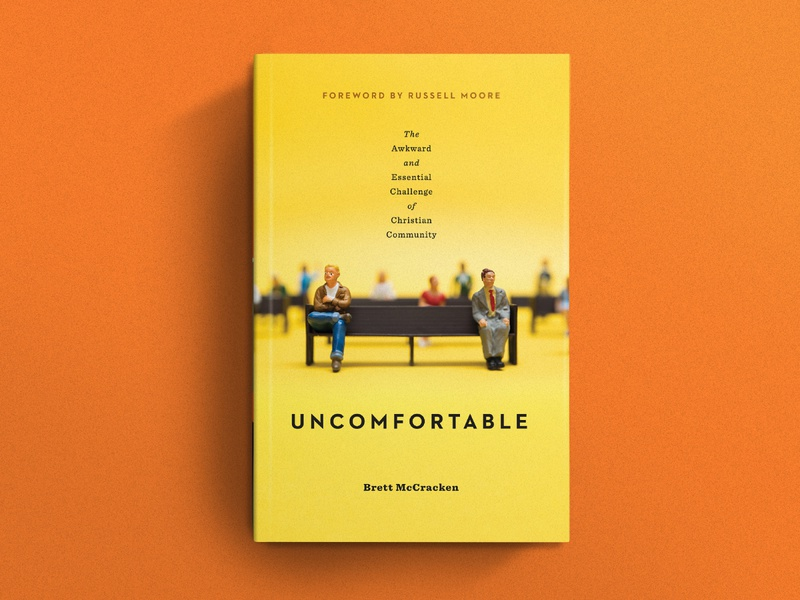 Uncomfortable typography social media video yellow awkward publishing ministry miniatures miniature photography print design uncomfortable book cover book book cover design