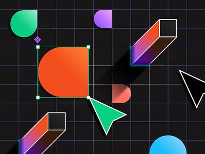 Figma branding glow product illustration product design gradients app illustration web ux ui vector geometric figmadesign