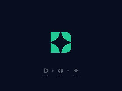 Destra Financial mark finances investing design mark star branding vector geometric icon logo