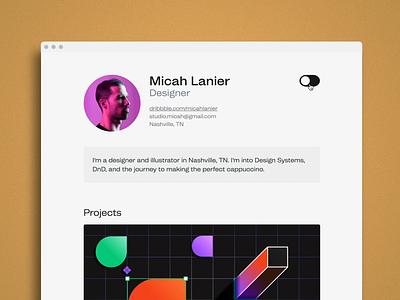 Resume - Dark Mode webflow lottie ui design ui theme dark theme website geometric illustration dark dark mode minimal animation web typography ux ui
