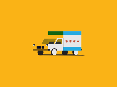 Chicago geometric truck stars chicago illustration vector