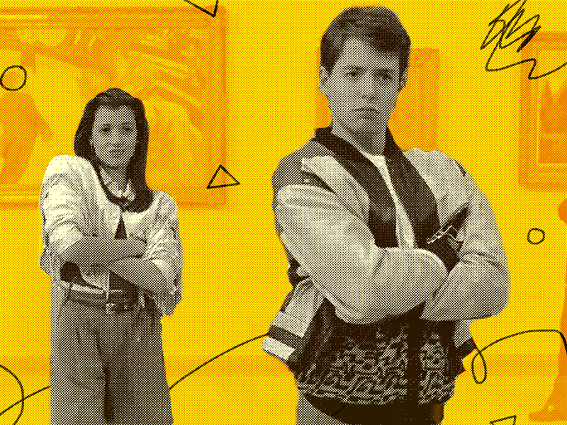 Ferris Bueller's Day Off triangle pattern squiggle yellow texture line film halftone movie