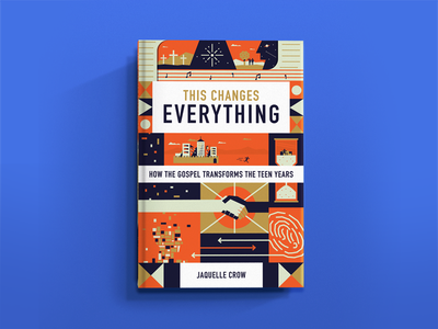 This Changes Everything castle cross blocks hand design time head transform icon book cover book typography branding vector geometric illustration