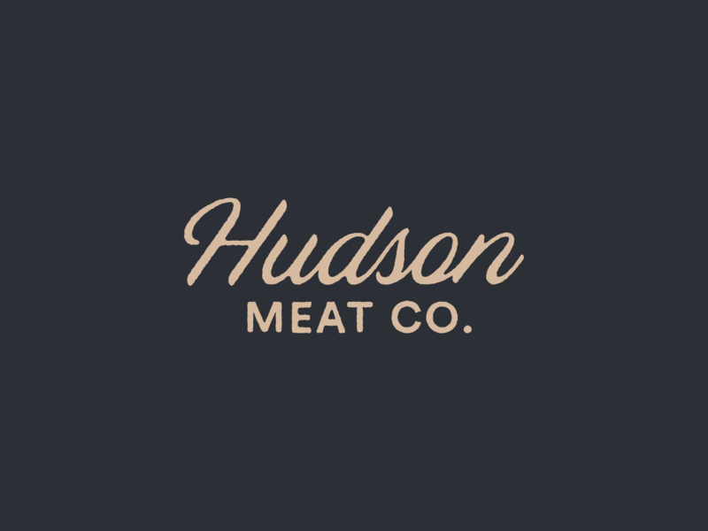 Hudson Meat Co. mark typography design branding texture logo