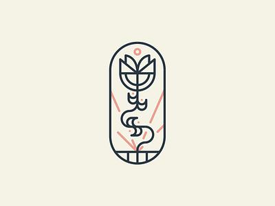 The True Vine bible vine stamp vector mark icon design geometric illustration