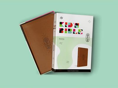 ESV Kid's Bible stamp bible packaging geometric typography branding vector icon design illustration