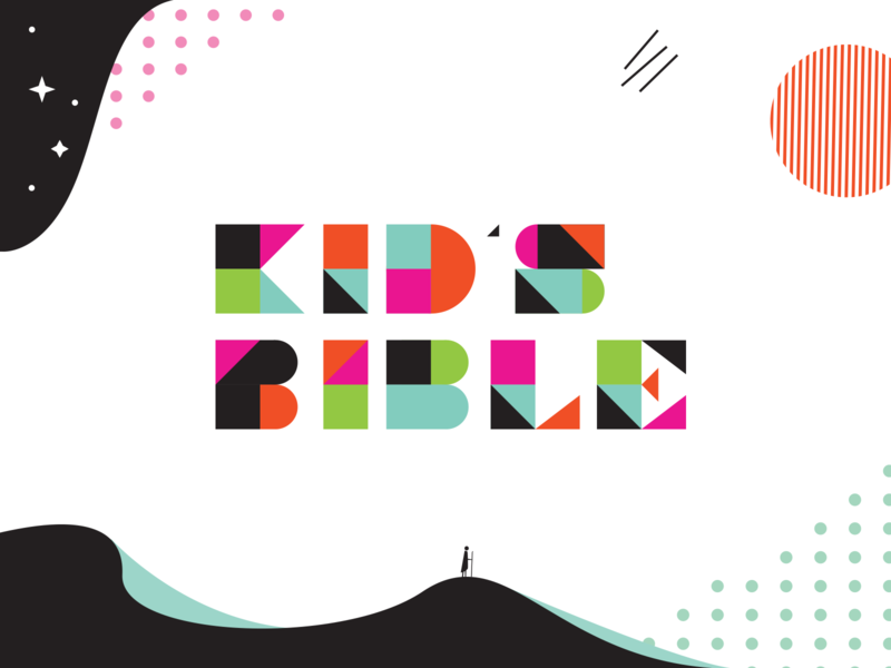 ESV Kid's Bible typography sun sand kids bible blue water star design branding icon vector geometric illustration