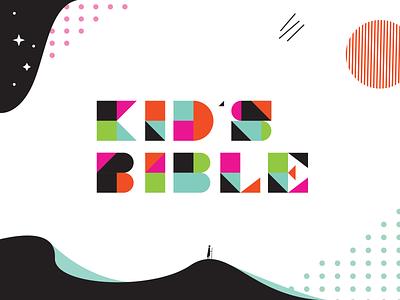 ESV Kid's Bible typography sun sand kids bible blue water star design branding icon vector geometric illustration