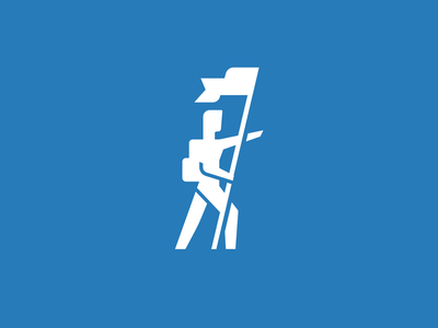 Pathfinder design logo illustration app blue mark branding vector icon