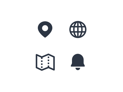 Travel Icons minimal website flat web app ux ui vector icon