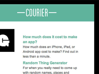 Courier: Email courier email automatic digest link sharing
