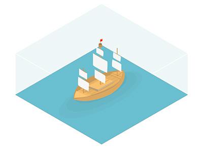ISO Ship iso iso park ship isometric boat sail