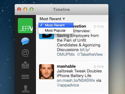 Minimal Twitter Filter (1/2) twitter app filter popular recent