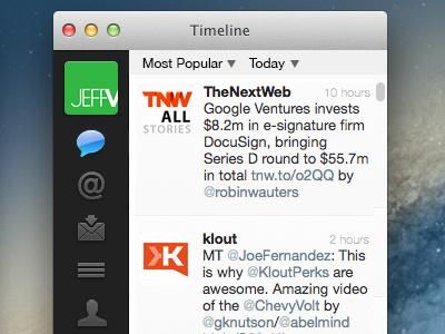 Minimal Twitter Filter (2/2) twitter app filter popular recent