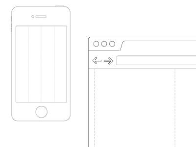 Sketching Set wireframe ui ux sketch app hardware software design layout grid