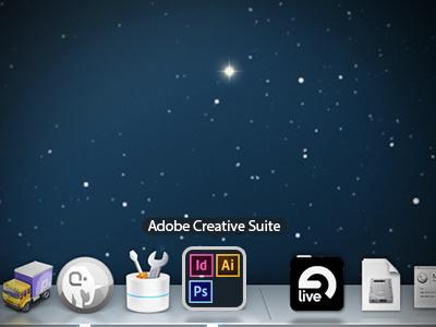 Mac OSX Dock Folders icon adobe organization mac osx concept dock folders apps applications