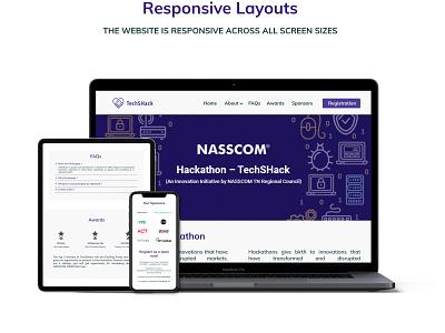 Hackathon contest - UI Responsive Web Design figma resgistration iamneo.ai hackathon uiux ux webdesign