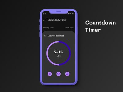 Count-Down Timer UI Design appdesign uidesign timerui illustration webdesign ui design dailyui ux figma uiux