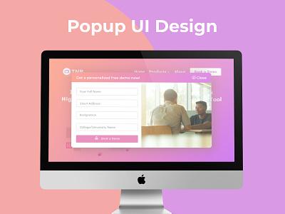 Popup/Overlay UI Design illustration webdesign ui design dailyui ux figma uiux