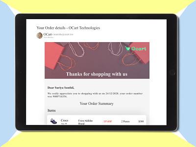 E-Mail Receipt illustration webdesign ui design dailyui ux figma uiux