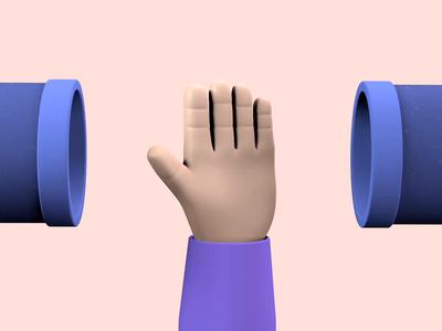 Wash Em hand 3d art 3d c4d animation