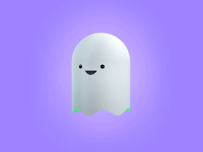 Ghost ghost 3d c4d animation