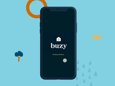 Buzy App mobile app mobile animation