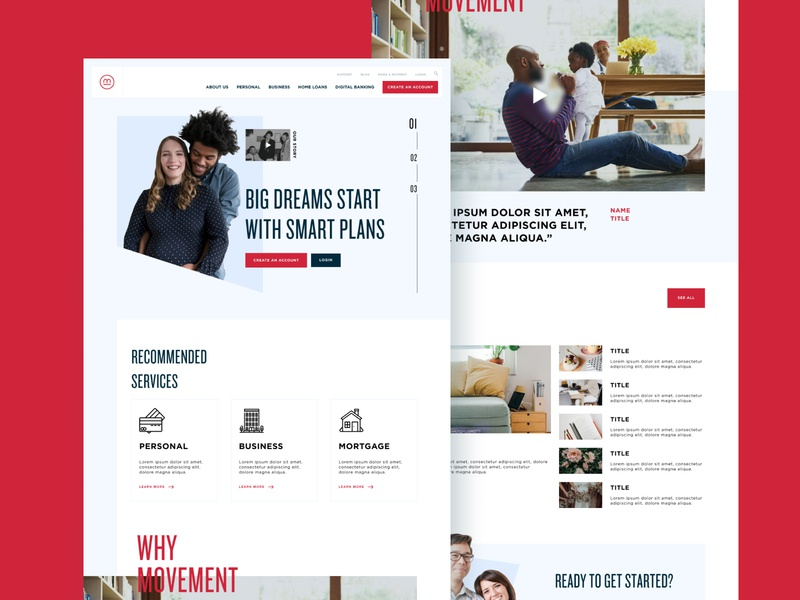 Movement Home homepage branding web