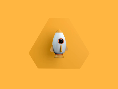 Happy to be on board! rocket 3d c4d animation
