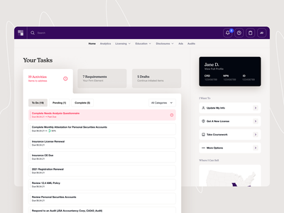 Broker Tasks ui ux figma web