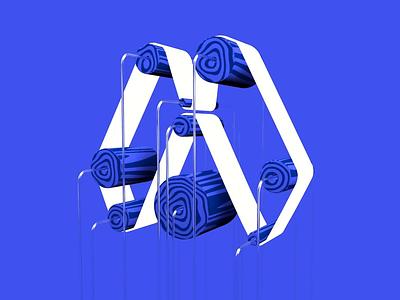 Logo Wheels 3d art motion cinema 4d 3d animation logo c4d
