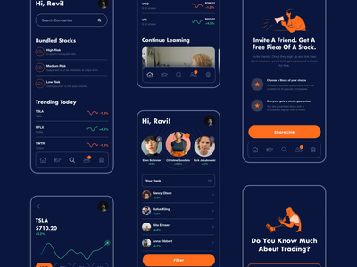 Mobile Trading product trading app mobile ux ui animation